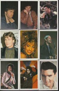 1988 FANZ ALBUM MUSIC POP STARS AND MOVIE STARS COMPLETE STICKER SET