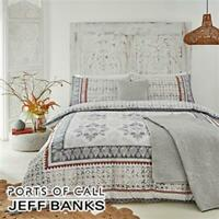 Jeff Banks King Size Bed Set Jaipur Ports Of Call Duvet Cover & 2 Pillow Slips
