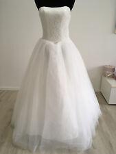 Ondego Ivory vestido de novia vestido de bodas standesamtkleid licencias matrimoniales 32 34 40 42