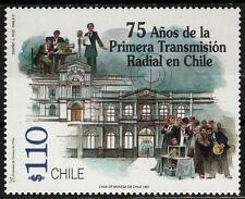 Chile 1997 Scott # 1219 1st Radio Broadcast in Chile 75th Anniversary  MNH