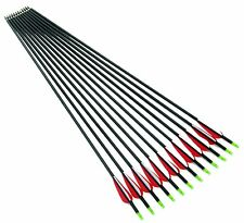 """12) 30"""" archery hunting Mix carbon arrow for Compound & recurve bow with point"""
