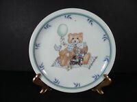 "Vintage Arfold Porcelain 7½"" Child's Plate Boy Bears Train"