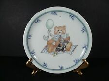 "Vintage Arfold Porcelain 7½"" Child's Plate Boy Bears Train"