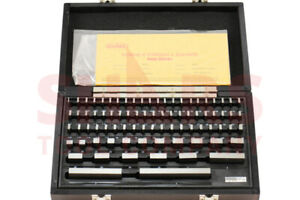 SHARS 81 PCS GRADE B GAGE GAUGE BLOCK SET NIST CERTIFICATE M}