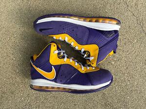 Size 10.5 - Nike Lebron 8 VIII QS Retro Lakers Purple/Gold DC8380-500 - 2020