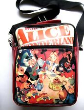 "Disney ""Alice in Wonderland"" Shoulder Book Bag Vintage Red Vinyl Original Poster"
