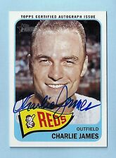CHARLIE JAMES 2014 TOPPS HERITAGE REAL ONE SIGNATURE AUTOGRAPH AUTO