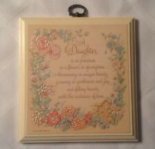 Hallmark Daughter's Mini Wall Plaque