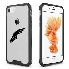 For iPhone X 6 6s 7 8 Plus Clear Shockproof Case Cover Track & Field Wing Shoe
