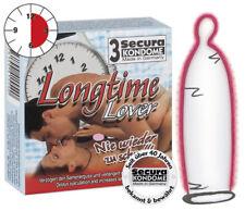 Preservativi Profilattici Condoms ritardanti Longtime Lover SECURA set 3 pezzi