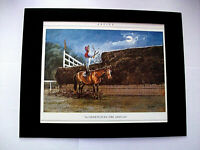 Horse Racing Print Thelwell Shorten The Odds Comical Bookplate 1984 11x14 Matted