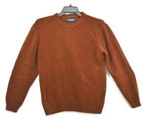 Roundtree & Yorke Orange Crew Neck Long Sleeve Cotton Sweater Loose Size M