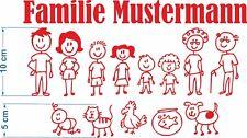 Familie zum selber bauen Briefkasten Aufkleber Name Tür Kinder Deko Sticker