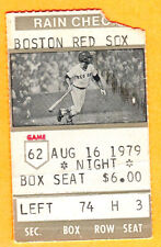 8/16/79 RED SOX/WHITE SOX TICKET STUB-JOHN TUDOR'S MLB DEBUT