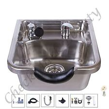 Stainless Steel Shampoo Sink Salon Spa Beauty Equipment brushed Tlc-1167