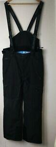 """Surfanic Salopettes Ski Trousers Size XXL Mens Black With Braces 32"""" Leg K831"""