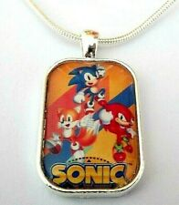 SONIC THE HEDGE HOG NECKLACE GIFT BOXED 22 INCH SILVER CHAIN PARTY BIRTHDAY