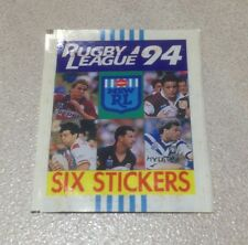 1994 Select Rugby League Stickers - Wrapper