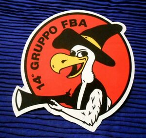 ADESIVO AERONAUTICA MILITARE ITALIANA - 14° GRUPPO FBA