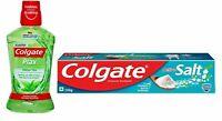 Colgate Dental Oral Care Kit Combo Active Salt Toothpaste 200g & Mouthwash 60ml