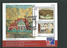 NEW ZEALAND 1999 PHILEXFRANCE '99 NZ ART MINIATURE SHEET FINE USED