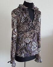 H&M Damen   Bluse , Grash Bluse,  Gr 40, weiß/grau