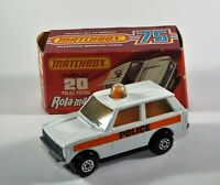 Matchbox Superfast No 20 Police Patrol SMOKE GLASS Large POLICE MIB RARE