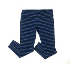 Athleta Blue and Navy striped Tights size Large Petite