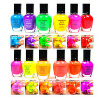 KLEANCOLOR NEON COLORS 12 FULL COLLETION SET NAIL POLISH LACQUER 12NEONSET +GIFT