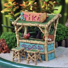 Miniature Tiki Bar and Two Stools / Fairy Faerie Gnome Garden Dollhouse GO 17314