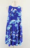 NWT Lauren Ralph Lauren Womens Blue Floral Print Sleeveless Shift Dress Size 8