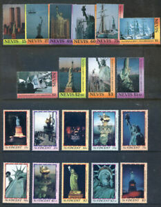 1986 Centenary of the Statue of Liberty, 20 stamps & 37 sheets (2020/05/19#06)