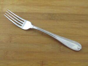 """Lenox Tudor Bead Dinner Fork 8"""" Rope Edge Glossy Stainless Flatware Silverware"""