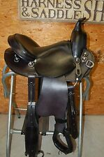 "16"" G.W.CRATE NATURAL HORSEMAN CUSTOM TRAIL SADDLE MADE IN ALABAMA FREE SHIPPING"