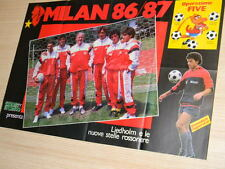 Q26 Poster Milan 1986-1987 Liedholm e le stelle rossonere