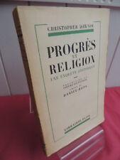 PROGRES ET RELIGION enquete historique Christopher Dawson