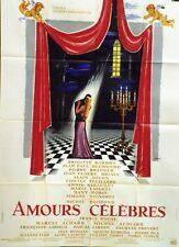 """""""AMOURS CELEBRES"""" Affiche originale Michel BOISROND, Brigitte BARDOT,Alain DELON"""