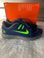$60 Nike Downshifter 9 RW Blue Void/Electric Green CI3440-400 Size US 3.5Y