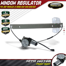 Power Window Regulator W/ Motor for Jeep Wrangler JK 2007-2017 Front Right RH