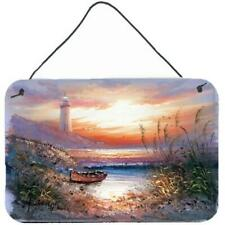 Carolines Treasures Aph4130Ds812 Lighthouse Scene with Boat Wall or Door Hang.