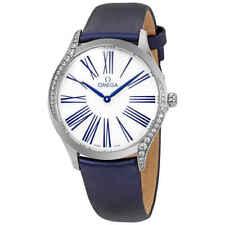 Omega De Ville Esfera Blanca Reloj De Señoras Diamante 428.17.36.60.04.001