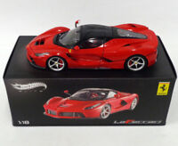 FERRARI 1/18 HOT WHEELS ELITE MODELLINO LA FERRARI 2013 RED L.EDITION MATTEL NEW