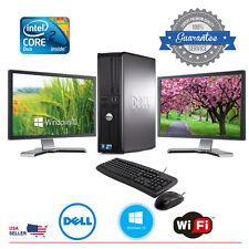 Dell Desktop Computer Core 2 Duo 4GB 160GB DUAL 17