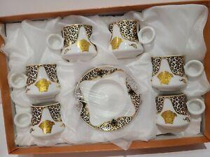 NEW 12pcs Espresso Coffee Set 6 cups /6 Saucer Versace Design