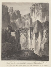 Pozzuoli,  Campi Flegrei Campania Felix 1781-1786 acquaforte Saint-Non