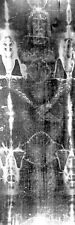 More details for shroud of turin faithfull reproduction of jesus life size image on canvas 24x72