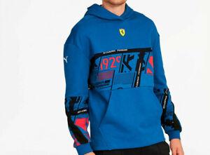 Puma Scuderia Ferrari Street Hoodie Galaxy Blue Mens Size XL Collaboration NWT