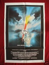 SUPERMAN * 1978 ORIGINAL MOVIE POSTER CHRISTOPHER REEVE RARE NSS ISSUE UNUSED NM
