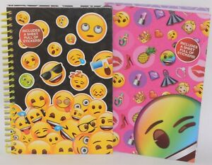 A5 Cute/Funny Emojis Notebook Stickers Sheet White Smooth Paper School/College