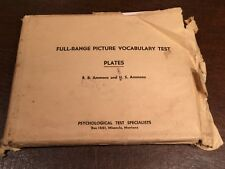 Vintage 1948 Ammons Psychological Full-Range Picture Vocabulary Test Plates Set